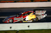 Aug. 31, 2013; Clermont, IN, USA: NHRA funny car driver Chad Head during qualifying for the US Nationals at Lucas Oil Raceway. Mandatory Credit: Mark J. Rebilas-