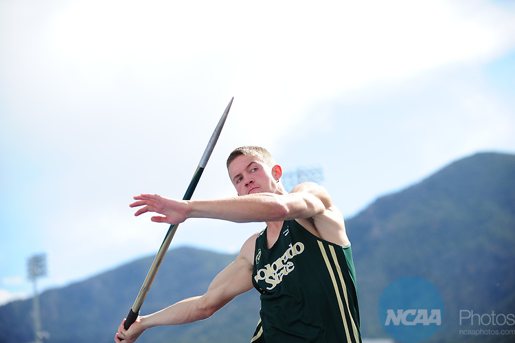 10 MAY 2012:  Athletes compete during the Mountain West Conference Men's and Women's Outdoor Track and Field Championship held at the Cadet Outdoor Track and Field Complex in Colorado Springs, CO. Joshua Duplechian/NCAA Photos