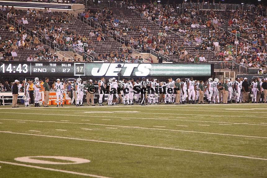 Sideline der New York Jets
