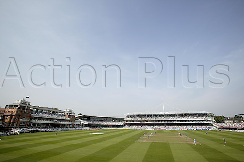 3 September 2005: General view of the ground during the Cheltenham and Gloucester Trophy final between Hampshire and Warwickshire at Lords, London. Photo: Steve Bardens/Actionplus..050903 cricket venues grandstand pavilion