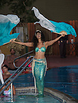 Mermaid Farasha, Las Vegases Desert Siren during the Pirate Crawl held in downtown Reno on Saturday night, August 13, 2016.