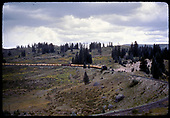 Train hauling flat cars &amp; freight - east side of Cumbres - Osier area?<br /> D&amp;RGW  Cumbres Pass area east ?, CO
