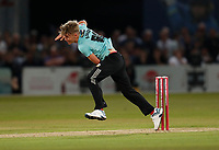 Sam Curran bowls for Surrey during Kent Spitfires vs Surrey, Vitality Blast T20 Cricket at the St Lawrence Ground on 23rd August 2019