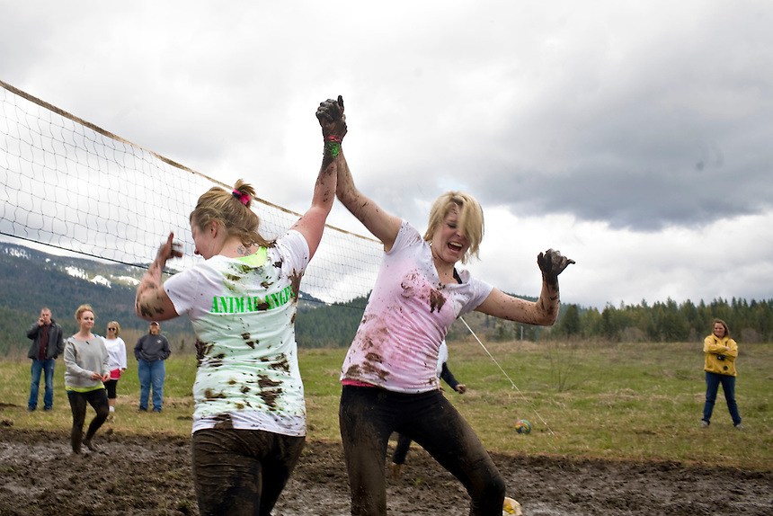 Team Goodybox at the 2011 Mud Volleyball Tournament in Laclede, ID sponsored by the Kodiak Bar. .(©Matt Mills McKnight/2011)