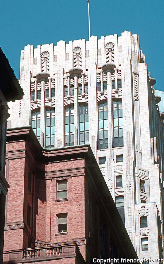 San Francisco:  Shell Building, Tower.  Photo '89.
