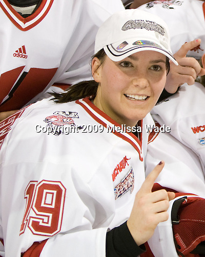 Alycia Matthews (Wisconsin - 19) - The University of Wisconsin Badgers defeated the Mercyhurst College Lakers 5-0 to win the 2009 NCAA D1 National Championship in the Frozen Four final game at Agganis Arena, in Boston, Massachusetts, on Sunday, March 22, 2009.