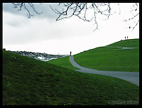 A lonely pathway at Kite Hill, Gas Works Park