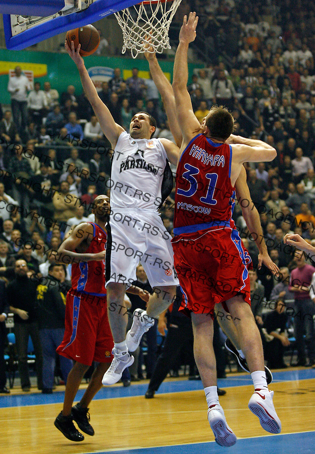 Rasic Aleksandar Sport Kosarka Partizan CSKA Evroliga ULEB Euroleague Beograd Srbija Belgrade Serbia  26.11.2008. (photo: Pedja Milosavljevic / STARSPORT)