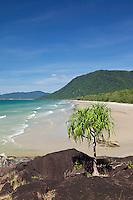 View along Noah Beach.  Daintree National Park, Queensland, Australia