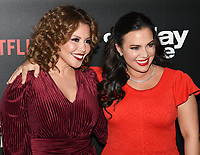"07 February 2019 - Los Angeles, California - JUSTINA MACHADO and GLORIA CALDERON KELLETT. Netflix's ""One Day at a Time"" Season 3 Premiere and Global Launch held at Regal Cinemas L.A. LIVE 14. Photo Credit: Billy Bennight/AdMedia"