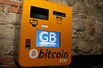 Bitcoin  Compro Euro  First Bitcoin Crypto currency  shop in Italy in Rovereto, Italy, December 11, 2017 Bitcoin ATM