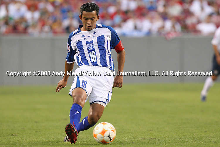 15 March 2008: Marvin Sanchez (HON). The United States U-23 Men's National Team defeated the Honduras U-23 Men's National Team 1-0 at Raymond James Stadium in Tampa, FL in a Group A game during the 2008 CONCACAF's Men's Olympic Qualifying Tournament.