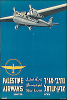 BNPS.co.uk (01202 558833)<br /> Pic: SwannGalleries/BNPS<br /> <br /> ***Please Use Full Byline***<br /> <br /> Palestine Airways from 1938 - before the creation of Israel - &pound;1500<br /> <br /> Beautiful posters from the halcyon days of travel up for auction.<br /> <br /> Scarce vintage travel posters promoting holidays across the globe in the 1920's and 30's are tipped to sell for over &pound;200,000 .<br /> <br /> The fine collection of 200 works of art that hark back to the halcyon days of train and boat travel have been brought together for sale.<br /> <br /> The posters were used to advertise dream holiday destinations in far-flung places such as the US and Australia and to celebrate the luxurious ways of getting to them.<br /> <br /> Most of the advertising posters date back to the 1930s and are Art Deco in style and they are all from the original print-run.