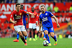 Daniel Drinkwater of Leicester City in action during the Premier League match at Old Trafford Stadium, Manchester. Picture date: September 24th, 2016. Pic Sportimage