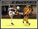 24/8/02         Copyright Pic : James Stewart                     .File Name : stewart-alloa v falkirk 21.FALKIRK'S MARK KERR AND ALLOA'S JIMMY FISHER GO IN HIGH.....James Stewart Photo Agency, 19 Carronlea Drive, Falkirk. FK2 8DN      Vat Reg No. 607 6932 25.Office : +44 (0)1324 570906     .Mobile : + 44 (0)7721 416997.Fax     :  +44 (0)1324 570906.E-mail : jim@jspa.co.uk.If you require further information then contact Jim Stewart on any of the numbers above.........