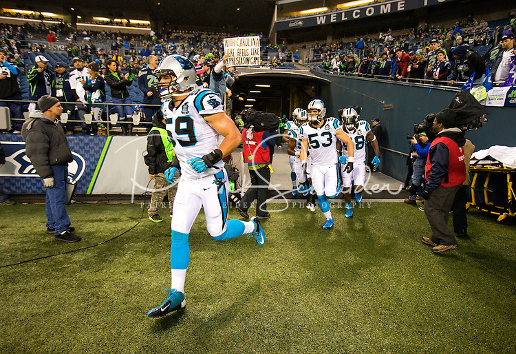 SEATTLE - WA - 01/10/2015 - NFC Divisional Round action between the Carolina Panthers and the Seattle Seahawks January 10, 2015 at CenturyLink Field in Seattle, WA.<br /> <br /> Charlotte Photographer - PatrickSchneiderPhoto.com