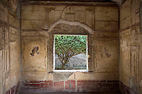Window in a painted room in the House of the Golden Cupids, or casa degli Amorini Dorati, 3rd century BC, Pompeii
