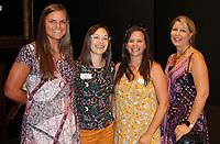 NWA Democrat-Gazette/CARIN SCHOPPMEYER Erica Vaughan (from left), Holly Szabo, Amanda Johnson and Shauna Shrum gather at APT.