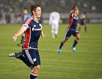 CARSON, CA - March 31, 2012: Kelyn Rowe (11) of the Revolution celebrates his goal during the LA Galaxy vs New England Revolution match at the Home Depot Center in Carson, California. Final score LA Galaxy 1, New England Revolution 3.