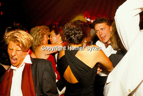 DANCING AT A BALL AT THE CIRENCESTER AGRICULTURAL COLLEGE 1990