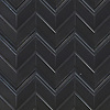 Thomas, a hand-cut stone mosaic, shown in Nero Marquina honed and Nero Marquina Venetian honed, is part of the Tissé® collection for New Ravenna.