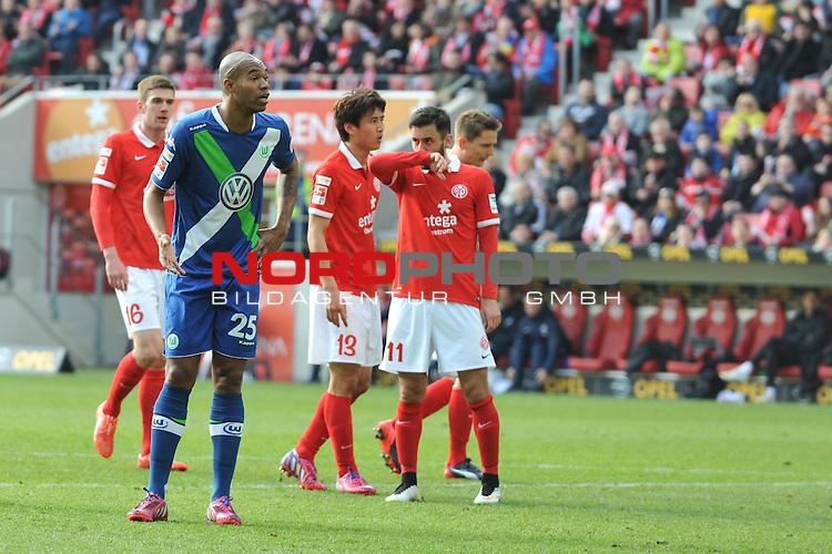 22.03.2015, cofacearena, Mainz, GER, FSV Mainz 05 vs. VfL Wolfsburg, im Bild: Naldo (#25, VfL Wolfsburg)<br /> <br /> Foto &copy; nordphoto / Fabisch