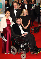 LONDON, ENGLAND - FEBRUARY 08: Professor Stephen Hawking attends the EE British Academy Film Awards at The Royal Opera House on February 8, 2015 in London, England<br /> CAP/ROS<br /> &copy;Steve Ross/Capital Pictures /MediaPunch ***NORTH AND SOUTH AMERICAS ONLY***