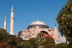 Hagia Sophia Blue Sky 01 - Hagia Sophia (Aya Sofya) basilica, Sultanahmet, Istanbul, Turkey