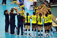 ColombiaREPUBLICA CHECA. 23-06-2013. La selección Colombia sub 20 de voleibol femenino consiguió este domingo su primera victoria en el Campeonato Mundial de la categoría, que se disputa en Brno, República Checa, al derrotar a Tailandia, por 3-0./ Colombian team beated Thailand by score of 3-0 in 2013 Women's Under 20 World Championship Tournament at Brno, Czech Repuiblic. Photo: VizzorImage / FIVB/ COURTESY/ NO SALES/ EDITORIAL USE ONLY