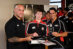 Under 14's  Player of the Year Blake Ashby with DJ Forbes & Chad Tuoro. Counties Manukau Rugby Union Junior representative prize giving held at Growers Stadium on Monday October 20th 2008.