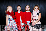 Tosia Zibk, Caoimhe Cohen, Síun Mulhall Crowley and Nicola Yrusk ready to go on stage at the Presentation Primary School Junk Kouture Fashion Show in the Rose Hotel on Thursday night.