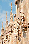 Looking up at the side of the Duomo (Cathedral)