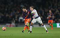 Manchester City's David Silva and Tottenham Hotspur's Harry Winks<br /> <br /> Photographer Rob Newell/CameraSport<br /> <br /> UEFA Champions League Quarter-finals 1st Leg - Tottenham Hotspur v Manchester City - Tuesday 9th April 2019 - White Hart Lane - London<br />  <br /> World Copyright © 2018 CameraSport. All rights reserved. 43 Linden Ave. Countesthorpe. Leicester. England. LE8 5PG - Tel: +44 (0) 116 277 4147 - admin@camerasport.com - www.camerasport.com