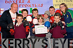 Boxing skills: Received their awards from the Cashen Vale Boxing Club in the town on Friday were pupils of Scoil Pio Naofa in Ballybunion Michael Jones, Cillian Courtney, Liam Culhane, Joshua O'Regan, Killian Walsh, Michael Eoin O'Sullivan, Joshua Reay with Paddy Enright (Coach) and Michelle Lane (Kerry Local Sports Partnership).