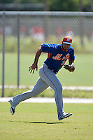 New York Mets Wuilmer Becerra (32) during practice before a minor league spring training game against the Miami Marlins on March 30, 2015 at the Roger Dean Complex in Jupiter, Florida.  (Mike Janes/Four Seam Images)