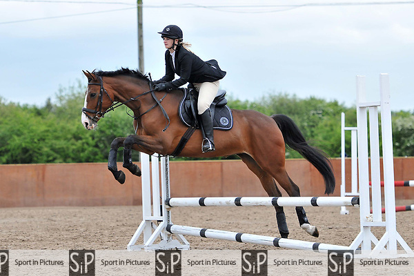 Class 2. Unaffiliated showjumping. Eastminster school of riding. Romford. Essex. 01/05/2017. MANDATORY Credit Ellen Szalai/Sportinpictures - NO UNAUTHORISED USE - 07837 394578
