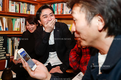 Fans of Japanese author Haruki Murakami react after hearing the result of the Nobel Literature prize, which went to Japan born British novelist Kazuo Ishiguro, at the gallery-bookshop Rokujigen in Tokyo on October 5, 2017, Tokyo, Japan. Kazuo Ishiguro, who also has a following in the country of his birth, was not the first choice for these fans who have been waiting for Murakami to win the prize. (Photo by Rodrigo Reyes Marin/AFLO)