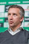 08.11.2018, Weserstadion, Bremen, GER, 1.FBL, PK SV Werder Bremen<br /> <br /> im Bild <br /> Frank Baumann (Gesch&auml;ftsf&uuml;hrer Fu&szlig;ball Werder Bremen) <br /> bei PK / Pressekonferenz vor dem Heimspiel gegen Borussia Moenchengladbach, <br /> <br /> Foto &copy; nordphoto / Ewert