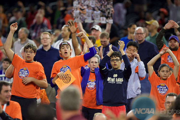 01 APR 2016: Hershey's All-Star Game during the 2016 NCAA Men's Division I Basketball Championship Final Four held at NRG Stadium in Houston, TX.  Brett Wilhelm/NCAA Photos