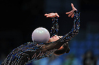 Ganna Rizatdinova of Ukraine performs at 2010 World Cup at Portimao, Portugal on March 13, 2010.  (Photo by Tom Theobald).