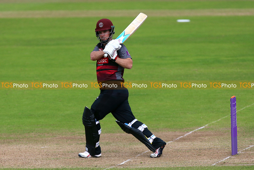Jim Allenby hits four runs for Somerset during Somerset vs Essex Eagles, Royal London One-Day Cup Cricket at The Cooper Associates County Ground on 14th May 2017