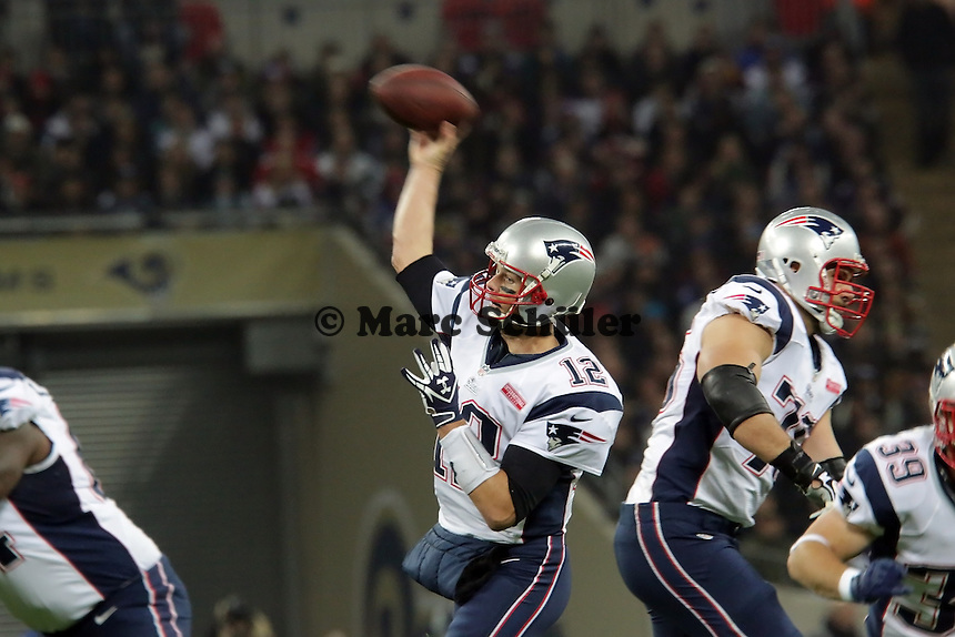 Pass von QB Tom Brady (Patriots)