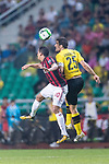 AC Milan Forward Carlos Bacca  (L) fights for the ball with Borussia Dortmund Defender Sokratis Papastathopoulos (R) during the International Champions Cup 2017 match between AC Milan vs Borussia Dortmund at University Town Sports Centre Stadium on July 18, 2017 in Guangzhou, China. Photo by Marcio Rodrigo Machado / Power Sport Images