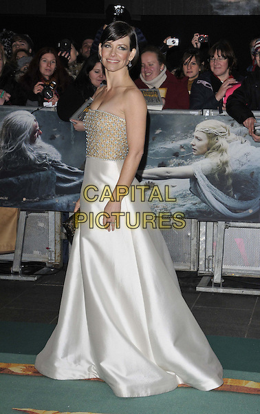 LONDON, ENGLAND - DECEMBER 01: Evangeline Lilly attends the &quot;The Hobbit: The Battle of the Five Armies&quot; world film premiere, Odeon Leicester Square cinema, Leicester Square, on Monday December 01, 2014 in London, England, UK. <br /> CAP/CAN<br /> &copy;Can Nguyen/Capital Pictures
