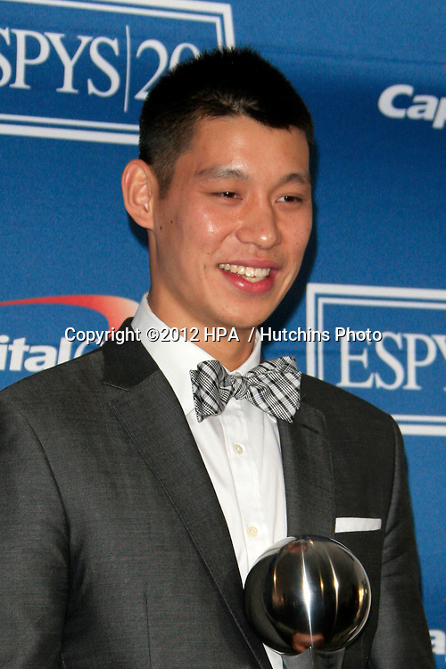 LOS ANGELES - JUL 11:  Jeremy Lin in the Press Room of the 2012 ESPY Awards at Nokia Theater at LA Live on July 11, 2012 in Los Angeles, CA