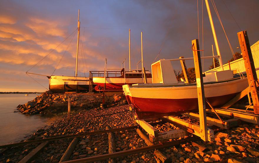 Wooden boats Stenross Slipway Australia