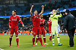 Liverpool's Dejan Lovren celebrates at the final whistle during the Champions League Quarter Final 2nd Leg match at the Etihad Stadium, Manchester. Picture date: 10th April 2018. Picture credit should read: David Klein/Sportimage
