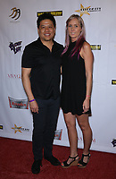 "04 August 2017 - Las Vegas, Nevada - Garrett Wang, Megan Elise. Sneak Peek FREE Screening of ""UNBELIEVABLE!!!!!"", A Sci-Fi Spoof Starring over 42 Former ""Star Trek"" stars and a Puppet Captain, at Brenden Theaters inside the Palms Las Vegas. Photo Credit: MJT/AdMedia"