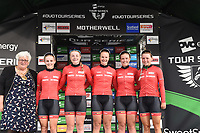 Picture by Allan McKenzie/SWpix.com - 15/05/2018 - Cycling - OVO Energy Tour Series Womens Race - Round 2:Motherwell - Team Breeze maintain the overall lead after Motherwell. Megan Barker, Abbie Dentus, Jess Roberts, Jenny Holl and Rebecca Raybould