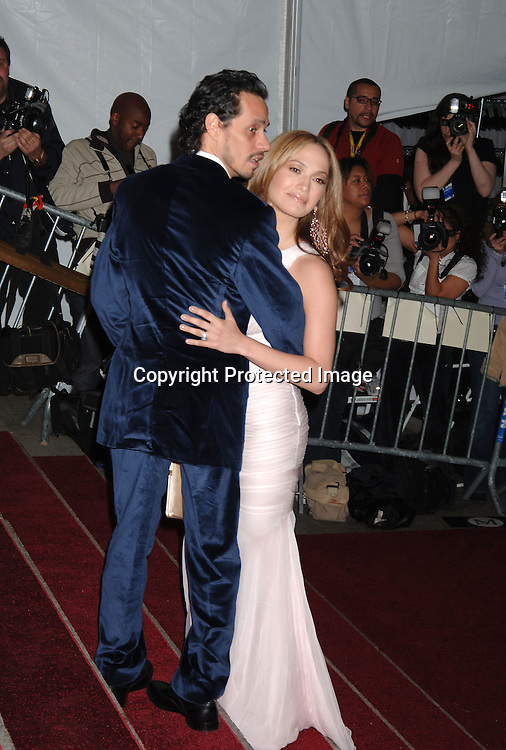 Marc Anthony and wife Jennifer Lopez..arriving to the Costume Institute Gala celebrating AngloMania on May 1, 2006 at The Metropolitan Museum of ..Art. ..Robin Platzer, Twin Images..